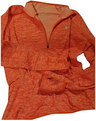 Nike Orange Cotton Knitwear for Women
