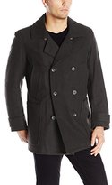 Andrew Marc Men's Mulberry Wool Peacoat with Removable Bib