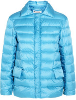 Jil Sander Quilted Shell Down Jacket - Light blue