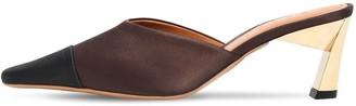 Marni 60mm Bicolor Satin Mules