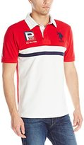 U.S. Polo Assn. Men's Cotton Pique Color Block Polo Shirt