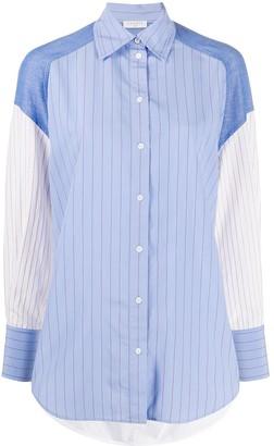 Sandro Paris Kim contrast sleeve shirt