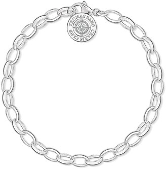 Thomas Sabo Women-Charm Bracelet Diamond Charm Club 925 Sterling Silver White Diamond Length 16 cm DCX0001-725-14-S