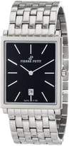 Pierre Petit Men's P-789D Serie Nizza Square Dial Stainless-Steel Bracelet Watch