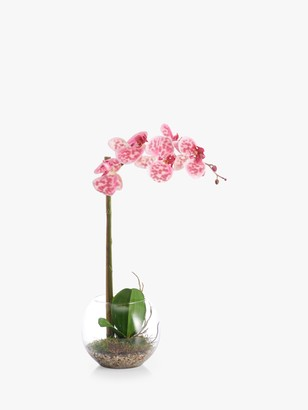 Peony Swimwear Artificial Small Orchid Fishbowl with Gravel