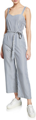 Paige Emma Striped Sleeveless Jumpsuit