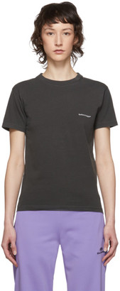 Balenciaga Grey Copyright Logo T-Shirt