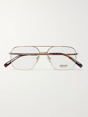 MOSCOT Shtarker Aviator-Style Gold-Tone Optical Glasses