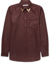 Givenchy - Cuban-fit Metal-tipped Cotton-flannel Western Shirt