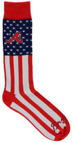 For Bare Feet Atlanta Braves Flag Top Socks