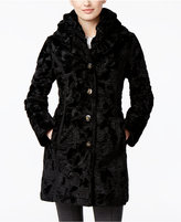 Laundry by Shelli Segal Petite Reversible Faux-Fur Quilted Coat