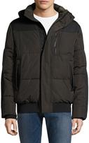Tahari Men's Hooded Bomber Jacket