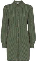 Ganni Check Print Shirt Dress
