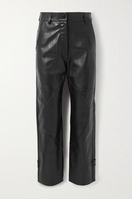 Petar Petrov Hunter Paneled Leather Straight-leg Pants - Black