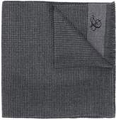 Canali woven checkered scarf