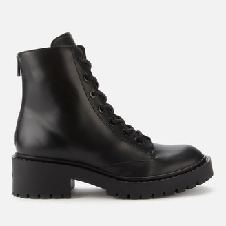 Kenzo Women's Pike Leather Lace Up Boots - Black