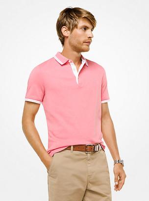 Michael Kors Greenwich Cotton Polo Shirt - Fd Coral Mel