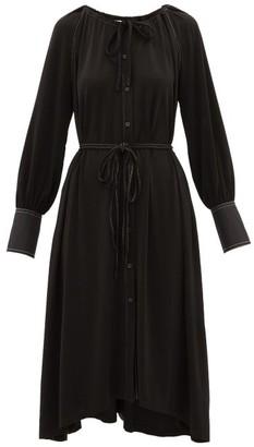 Proenza Schouler White Label Contrast-stitching Crepe Dress - Black