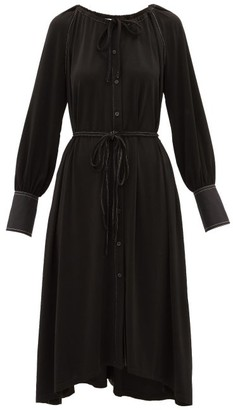 Proenza Schouler White Label - Contrast-stitching Crepe Dress - Womens - Black