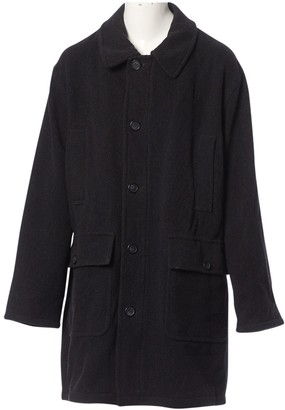 Saint Laurent Anthracite Wool Coats