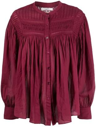 Etoile Isabel Marant Sheer Bell Sleeves Blouse