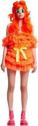 Teenidol Tulle Mini Dress W/belt & Wig