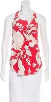 Derek Lam 10 Crosby Silk Floral Print Top w/ Tags