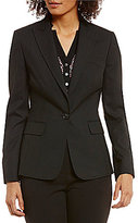 Jones New York Washable Suiting One Button Notched Peak Lapel Jacket