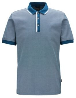 Slim-fit polo shirt with two-tone trims