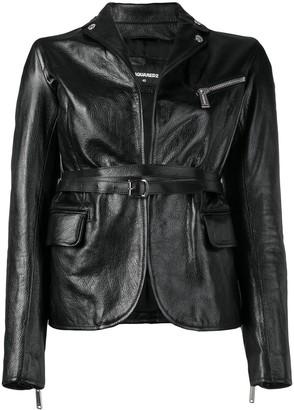 DSQUARED2 fitted biker jacket