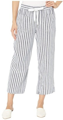 Tribal Pull-On Capris w/ Elastic Waistband (Nautical) Women's Casual Pants