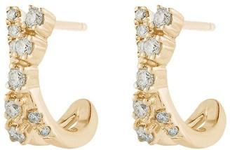 Dana Rebecca Designs 14kt yellow gold Ava Bea crossover mini diamond huggies
