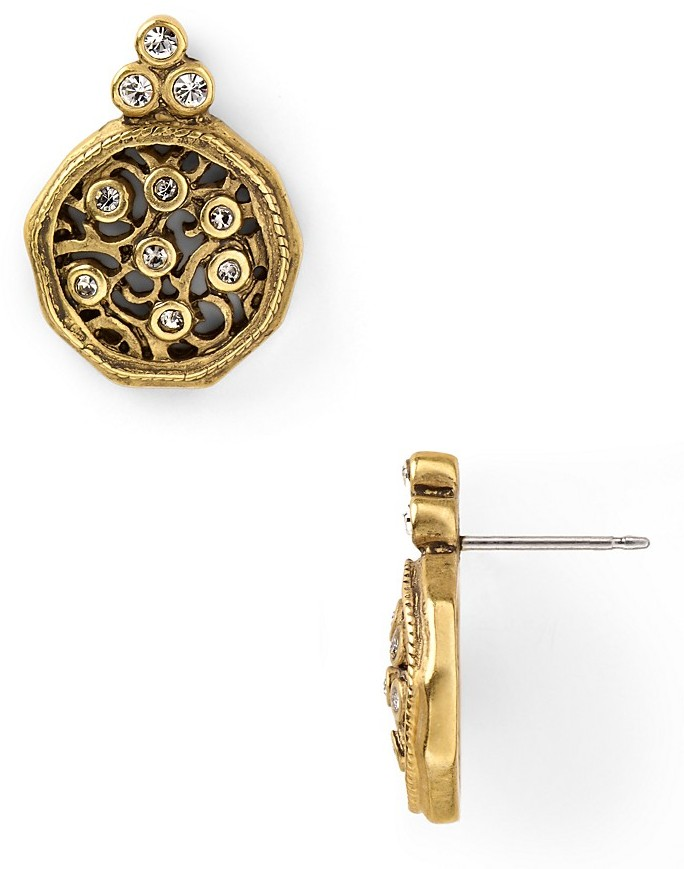 T Tahari Antique Stud Earrings