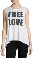 Chaser Free Love Graphic Jersey Tank, White