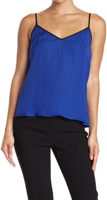 Vince Camuto Contrast V-Neck Camisole
