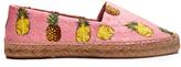 Dolce & Gabbana Pineapple-print floral-brocade espadrilles