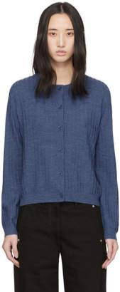 A.P.C. Blue Wool Vicky Cardigan