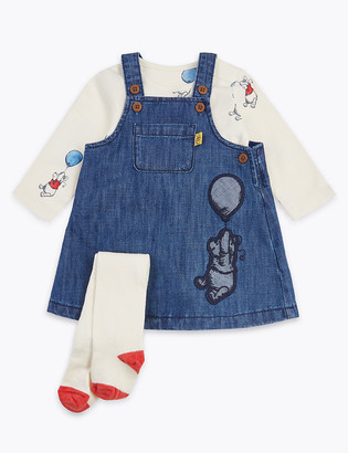 Marks and Spencer 3 Piece Winnie The Pooh & Friends Outfit (7lbs-36 Mths)
