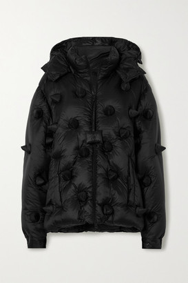 MONCLER GENIUS + 1 Jw Anderson Hatfield Hooded Spiked Quilted Shell Down Jacket - Black