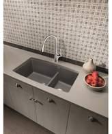 "Blanco Performa 33"" L X 19"" W Double Basin Undermount Kitchen Sink Finish: Cinder"