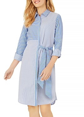 Foxcroft Warner Striped Shirt Dress