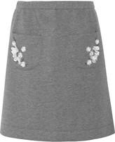 Mother of Pearl Lisa embellished bonded jersey skirt