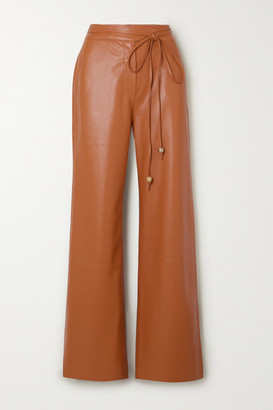 Nanushka Chimo Vegan Leather Straight-leg Pants - Camel