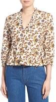 MiH Jeans Women's 'Miller' Print Peplum Top