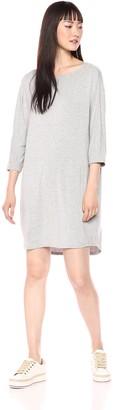 Daily Ritual Women's Jersey Bunch-Sleeve Dress