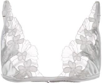 Fleur Du Mal Floral Triangle Bra