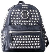Philipp Plein Black Fake Leather Ken Studded Small Backpack