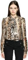 Just Cavalli Animal Print Silk Gauze Blouse