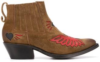 Ash Paco applique ankle boots