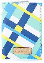 Kate Landry Cabana Plaid Passport Wallet